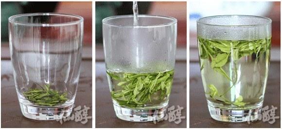 Chinese thee zetten met groot glas